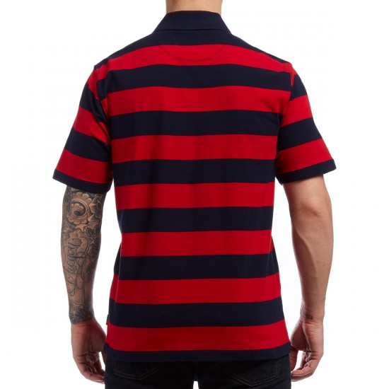 Primitive Arch Stripe Polo Shirt - Navy