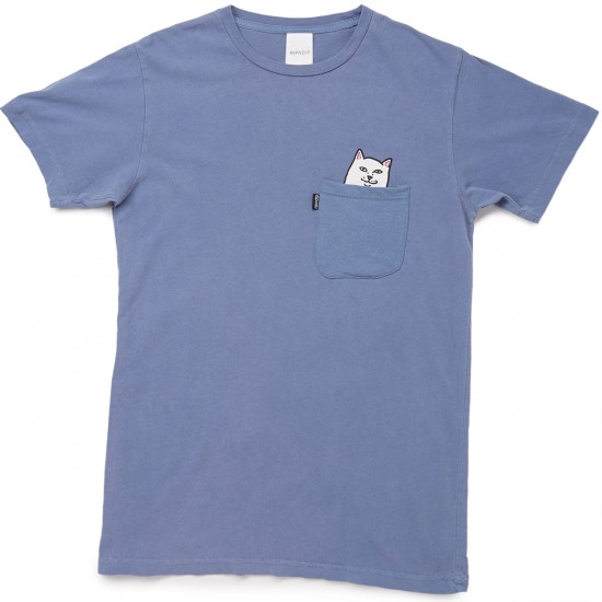 RIPNDIP Lord Nermal Pocket T-Shirt - Pigment Blue