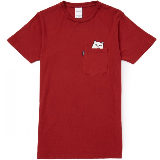 RIPNDIP Lord Nermal Pocket T-Shirt - Maroon