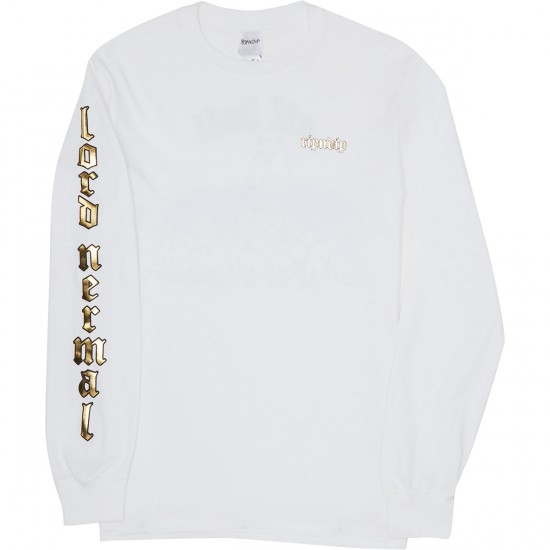 Rip N Dip All Hail Long Sleeve T-Shirt - White