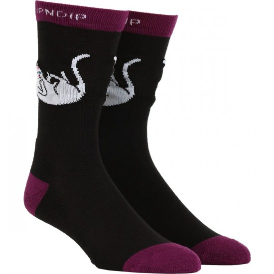 Rip N Dip Falling For Nermal Socks - Black/Grape