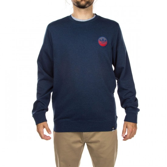Adidas Adv Team Crew Sweatshirt - Oxford Blue