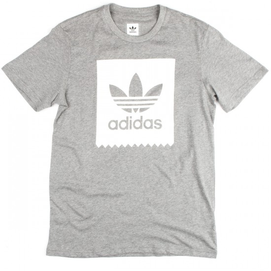 Adidas Blackbird Logo T-Shirt - Core Heather/White