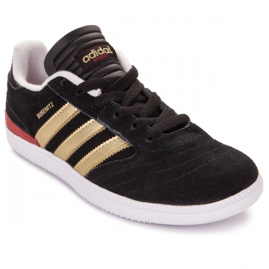 Adidas Busenitz Big Kid Shoes - Core Black/Gold/Red - 3.0