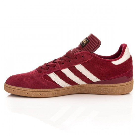 Adidas Busenitz Shoes - Burgundy Stone/Gum - 6.0
