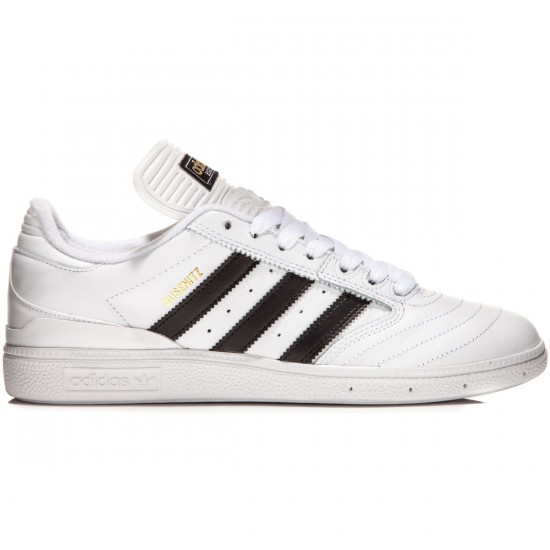Adidas Busenitz Shoes - White/Black/Gold Metallic - 9.0