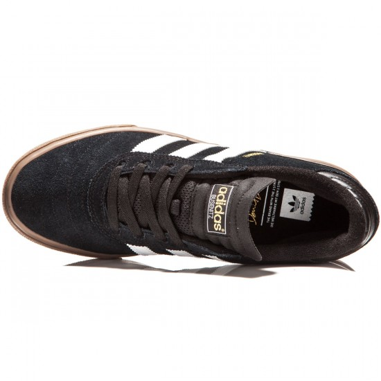 Adidas Busenitz Vulc Shoes - Black/White/Gum - 7.0