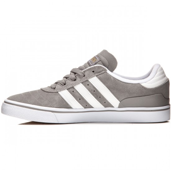 Adidas Busenitz Vulc Shoes - Grey/White/Gold Metallic - 7.0