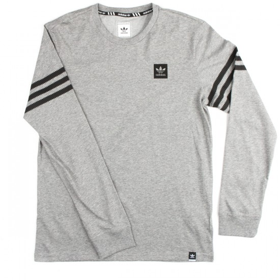 Adidas Clima Long Sleeve T-Shirt - Core Heather
