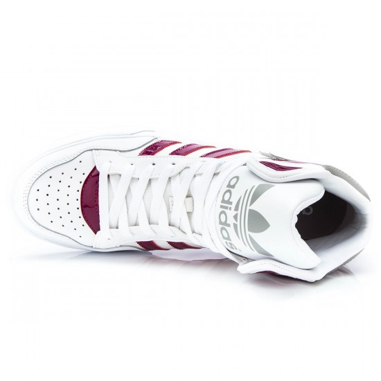Adidas Extaball Shoes - White/Berry - 5.0