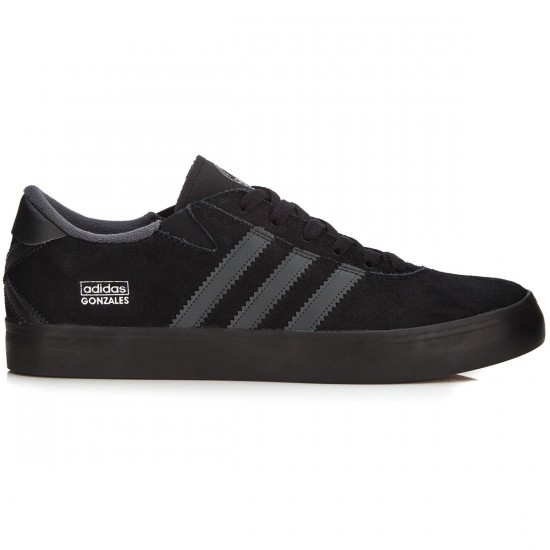 Adidas Gonz Pro Shoes - Black/Grey/Black - 7.0
