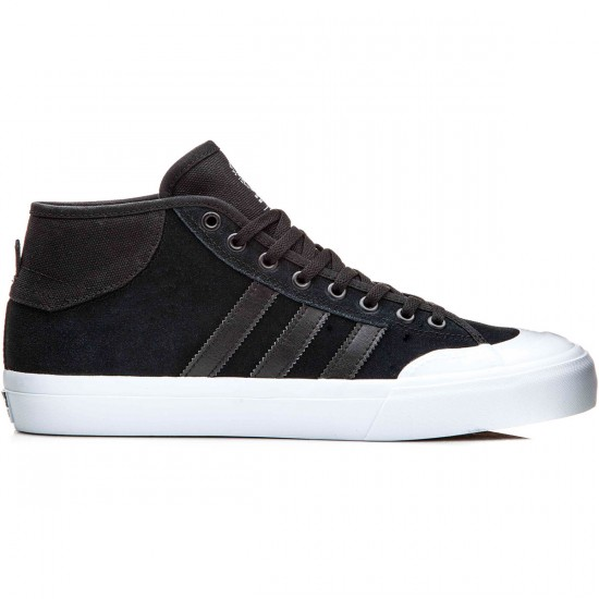 Adidas Matchcourt Mid Shoes - Black/Black/White - 13.0
