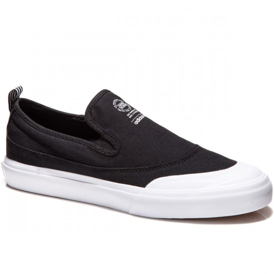 Adidas Matchcourt Slip Shoes - Black/Black/White - 8.0