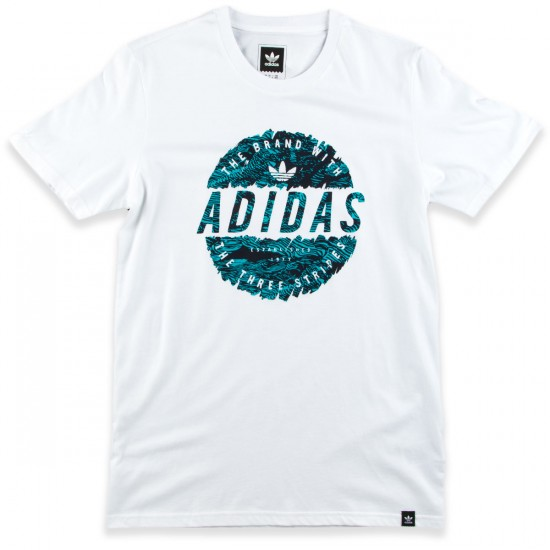 Adidas Scratched Stamp T-Shirt - White