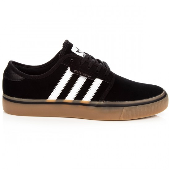 Adidas Seeley Big Kid Shoes - Core Black/White/Gum - 4Y