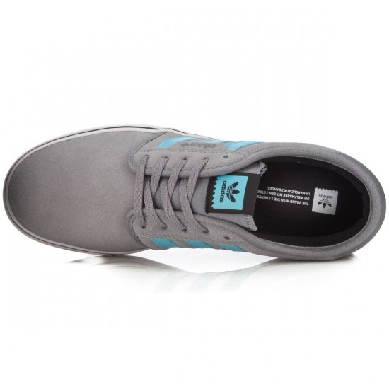 Adidas Seeley Shoes - Grey/Light Aqua/Black - 7.0