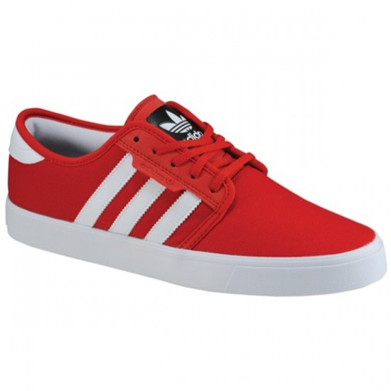 Adidas Seeley Shoes - Scarlet/White/Black - 4.0