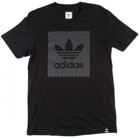 Adidas Solid Logo Fill T-Shirt - Black