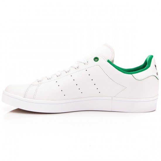 Adidas Stan Smith Vulc Shoes - White/Green/White - 7.0