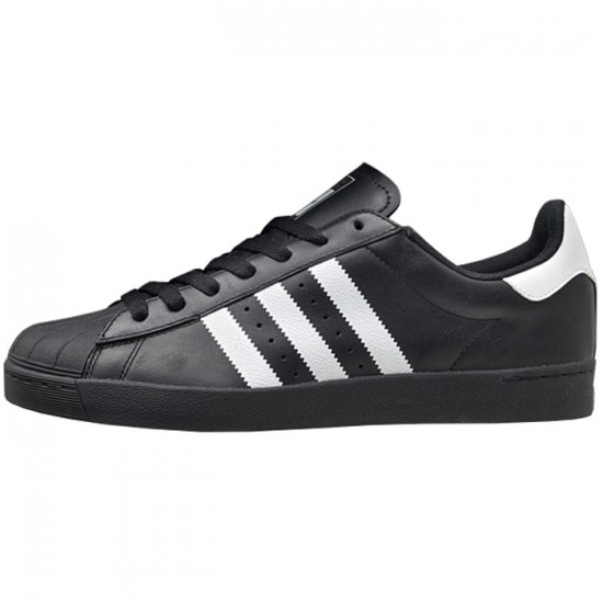 Adidas Superstar Vulc Adv Shoes - Black/White/Black - 7.0