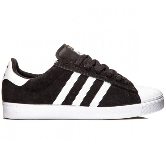 Adidas Superstar Vulc Adv Shoes - Black/White/Gold Metallic - 7.0