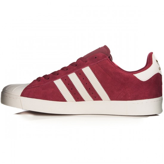 Adidas Superstar Vulc Adv Shoes - Burgundy/White/Burgundy - 7.0