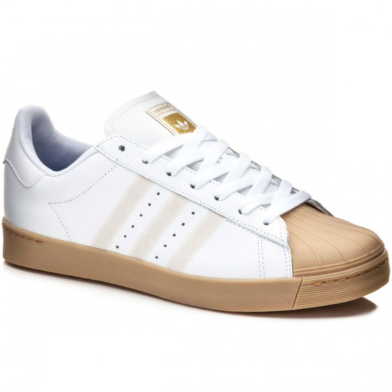 Adidas Superstar Vulc Adv Shoes - White/White/Gum - 6.0