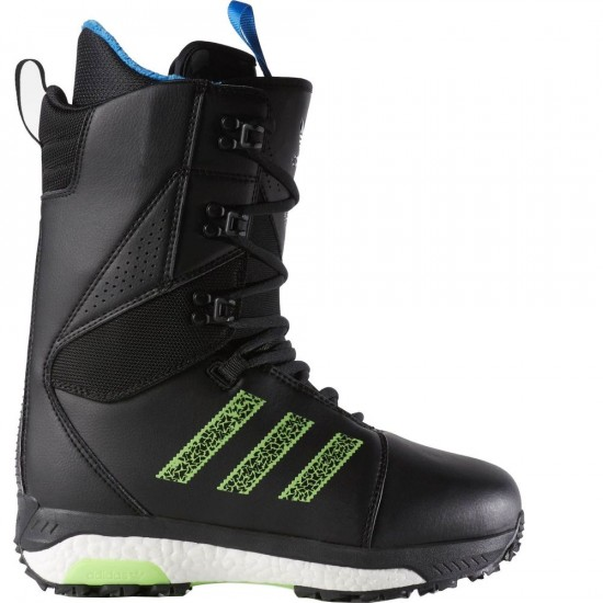 Adidas Tactical Boost Snowboard Boots - Black/White/Solar Green