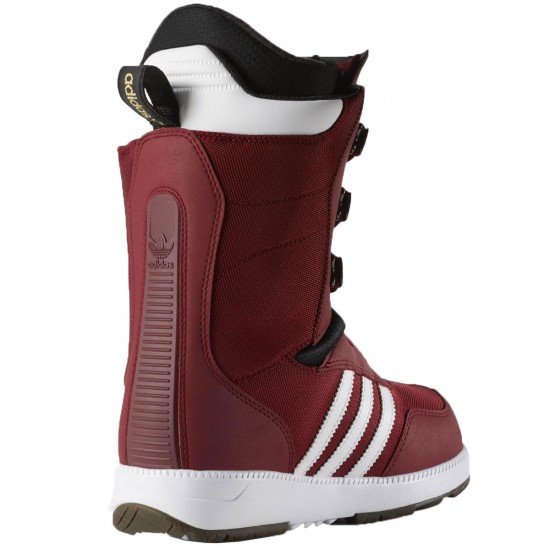 Adidas The Samba Snowboard Boots - Burgundy/White/Black