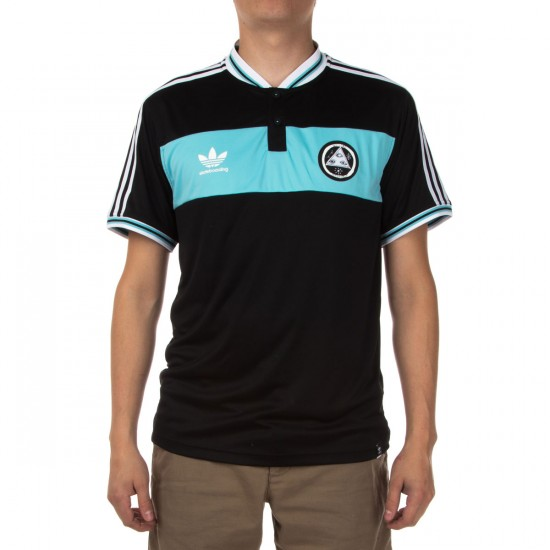 Adidas Welcome Jersey Shirt - Black/Light Aqua