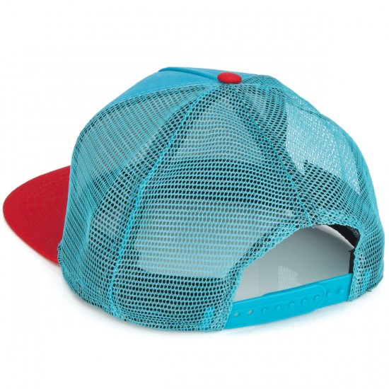 Airblaster Beast Claw Trucker Hat - Teal/Fire