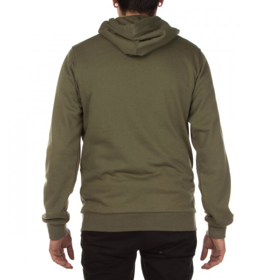 Altamont Antisec Pull Over Fleece Hoodie - Army