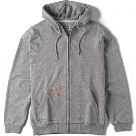 Altamont Antisec Zip Sweatshirt - Charcoal/Heather