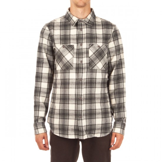 Altamont Binary Long Sleeve Flannel Shirt - Dirty White