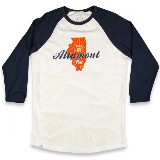 Altamont High And Dry State Raglan T-Shirt - Beige