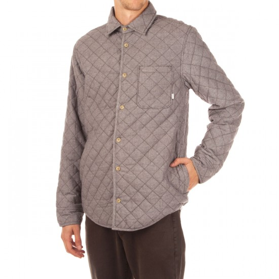 Altamont Vacant Quilted Flannel Shirt - Grey/Heather