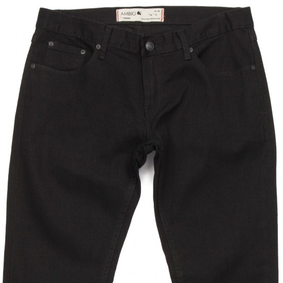 Ambig Civilian Straight Jeans - Black