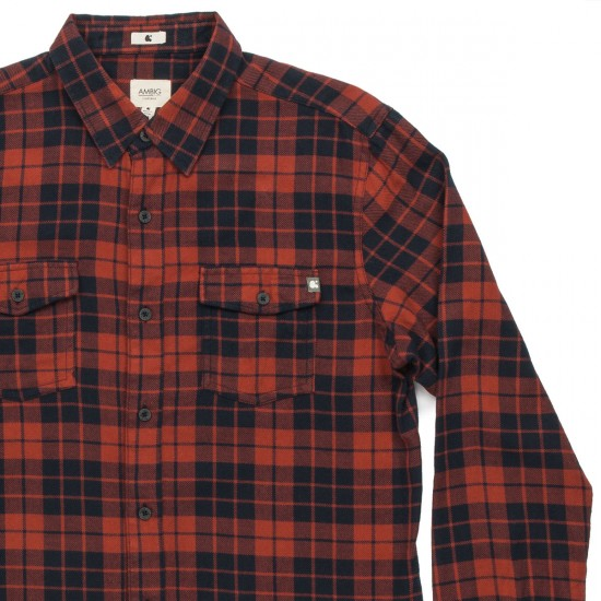 Ambig Claude Flannel Shirt - Red