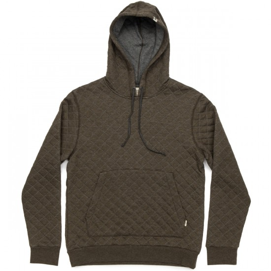 Ambig Dwight Hooded Quilted Sweatshirt - Heather Olive