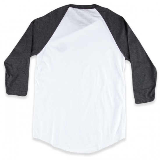 Ambig Hazy Photo Raglan T-Shirt - White/Charcoal