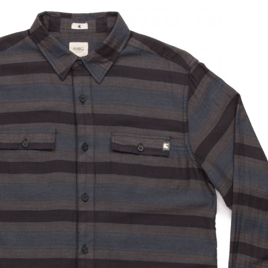 Ambig Nathan Long Sleeve Shirt - Navy