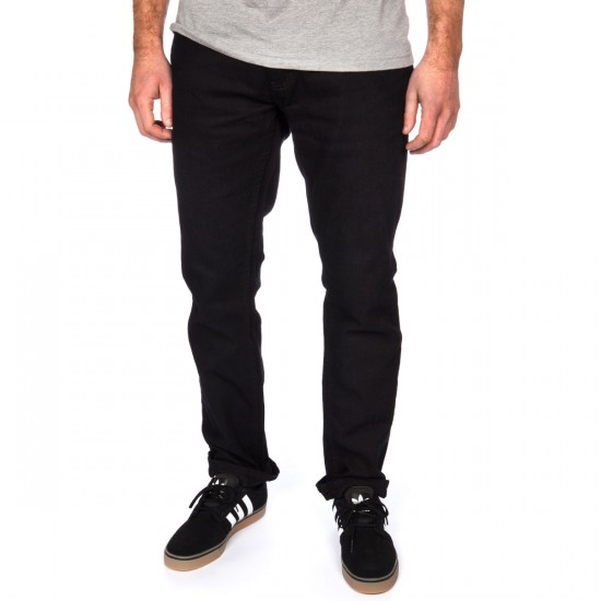 Ambig Nuts and Bolts Straight Jeans - Black