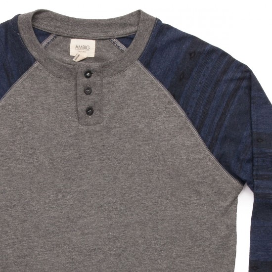 Ambig Slater Long Sleeve Knit Shirt - Navy