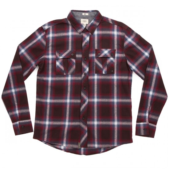 Ambig Tripper Long Sleeve Shirt Shirt - Burgundy