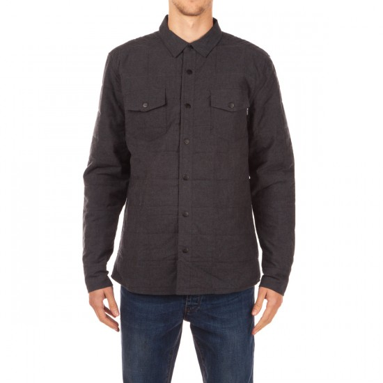 Ambig Union Quilted Shirt Jacket - Charcoal