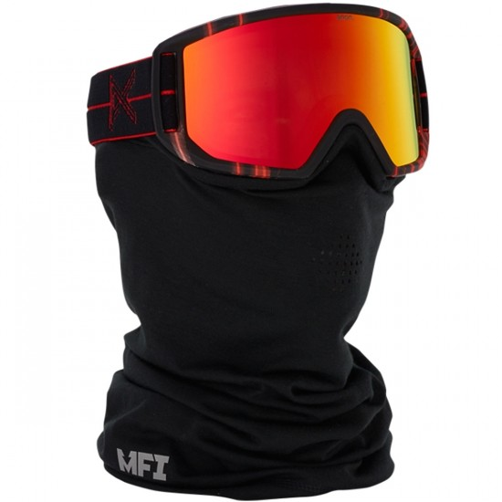 Anon Optics Relapse MFI Snowboard Goggles - Red Light/Red Solex
