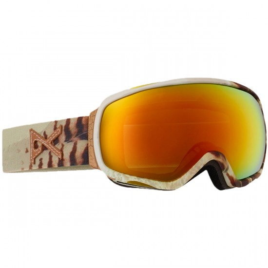 Anon Optics Tempest Womens Snowboard Goggles - Feather/Red Solex