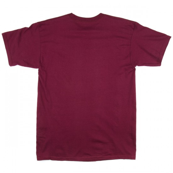 Anti-Hero Lil Blackhero T-Shirt - Burgundy/Yellow