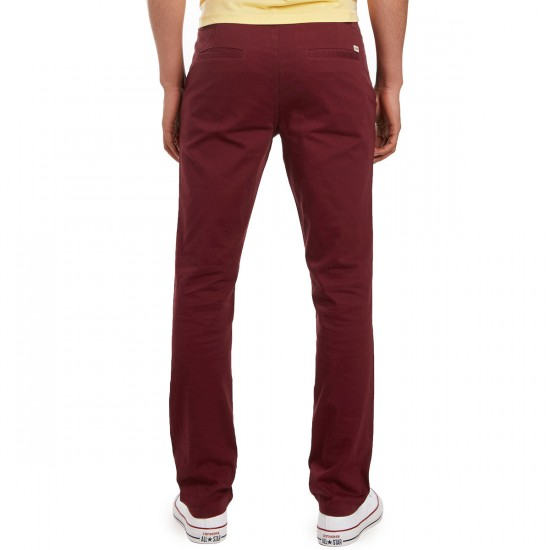 CCS Slim Fit Chino Pants - Burgundy - 28 - 32