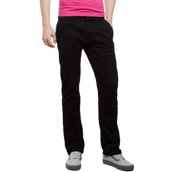 CCS Clipper Straight Fit Chino Pants - Black - 30 - 30